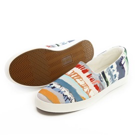 Striped Slip-On Canvas Men's Sneakers