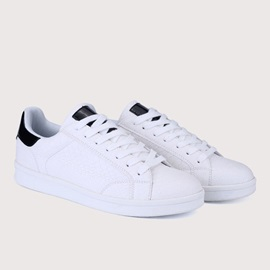 Embossed Lace-Up Men's Sneakers