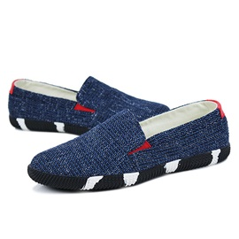 Color Block Slip-On Canvas Shoes for Men