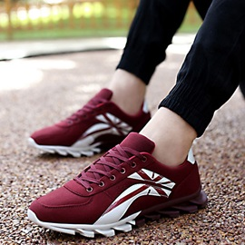 Contrast Color Lace-Up Men's Sneakers