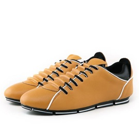 Color Block Round Toe Lace-Up Men