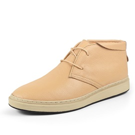 Breathable PU Lace-Up Men's Boots