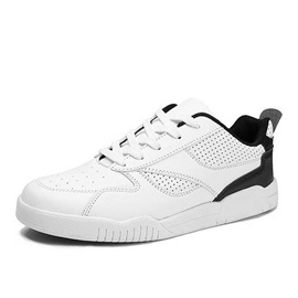 Breathable Color Block Lace-Up Skater Shoes