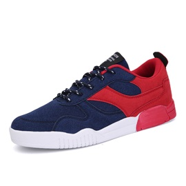 Color Block Suede Lace-Up Men's Casual Shoes