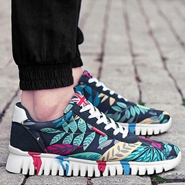 Printed Lace-Up Front Men's Sneakers