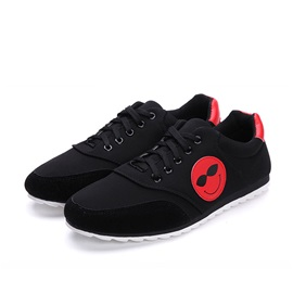 Cartoon Suede Lace-Up Sneakers