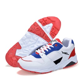 Color Block Mesh Patchwork Sport Shoes
