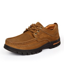 Breathable Suede Lace-Up Hiking Shoes