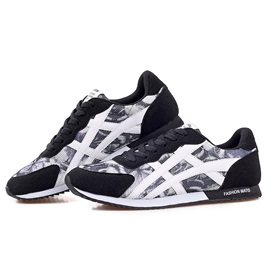 Breathable Printed Lace-Up Sport Shoes