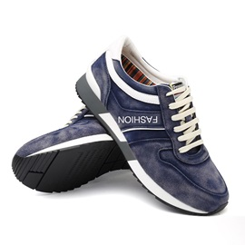 Suede Thread Lace-Up Sport Shoes
