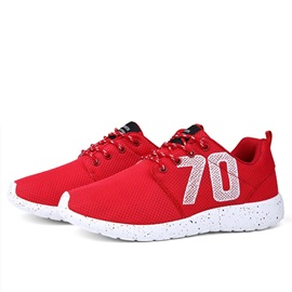 Breathable Letters Printed Lace-Up Sneakers