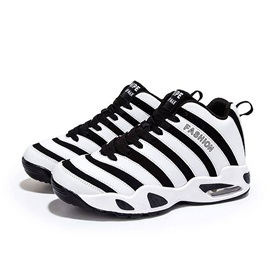Color Block Lace-Up Men's Sport Shoes