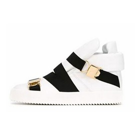 Color Block Buckles Skater Shoes