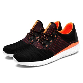 Contrast Color Mesh Lace-Up Sneakers
