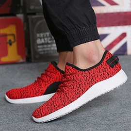 Breathable Mesh Tie-Up Sport Shoes