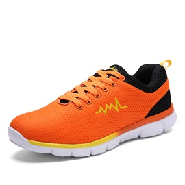 Breathable Mesh Lace-Up Men's Running Shoes