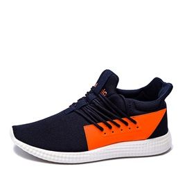 Contrast Color Round Toe Running Shoes