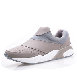 Breathable PU Slip-On Sneakers