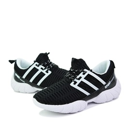 Contrast Color Breathable Mesh Sneakers for Men