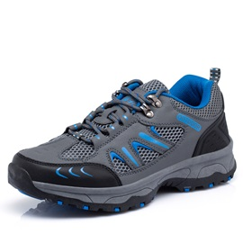 Mesh Patchwork Lace-Up Hiking Shoes for Men