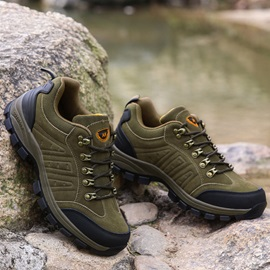Waterproof Suede Lace-Up Outdoor Shoes