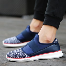 Breathable Mesh Patchwork Slip-On Sneakers