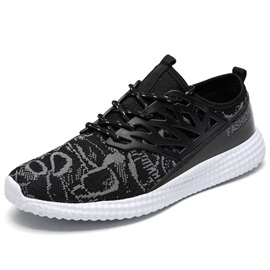Contrast Color Tie-Up Men's Sneakers