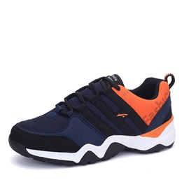Contrast Color Breathable Lace-Up Running Shoes