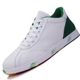 Contrast Color Lace-Up Men's Skater Shoes