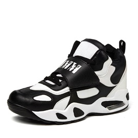 Black & White Round Toe Sport Shoes with Air Cushion