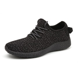 Breathable Round Toe Lace-Up Walking Shoes