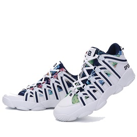 Printed Mid-Cut Lace-Up Sport Shoes