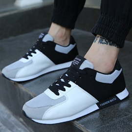 Contrast Color PU Patchwork Sneakers