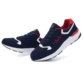 Suede Patchwork Lace-Up Sports Shoes
