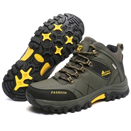 Wear Resistant Mid-Cut Men's Hiking Shoes