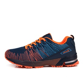 Breathable Thread Lace-Up Sport Shoes for Men