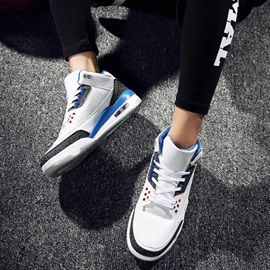 PU Color-Block Round-Toe Lace-Up Sneakers