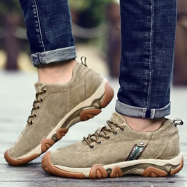 PU Plain Lace-Up Fashion Sneakers for Men