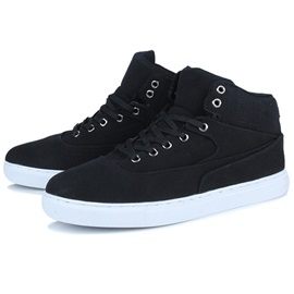 Nubuck Leather Plain Lace-Up Men's Shoes Discount