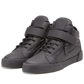 PU Black High-Cut Upper Men