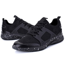 Cloth Patchwork Lace-Up Round Toe Men's Sneakers
