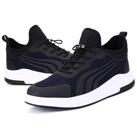 PU Color Block Stripe Lace-Up Men's Sneakers