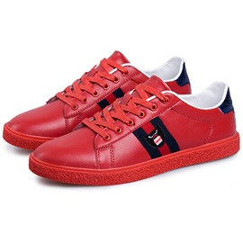 PU Color Block Lace-Up Multi Color Men's Sneakers