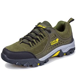 PU Cool Color Block Lace-Up Men's Hiking Shoes