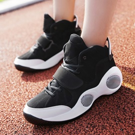 PU Color Block Velcro Cool Running Shoes for Men
