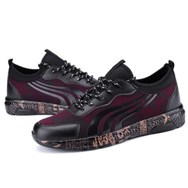 Spandex Camouflage Lace-Up Round Toe Men's Sneakers