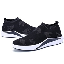 Spandex Plant Round Toe Slip-On Women's Sneakers