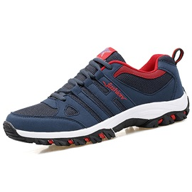 Mesh Color Block Lace-Up Men's Discount Shoes
