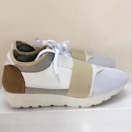 Mesh Color Block Lace-Up Sneakers on Sale