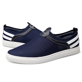 Mesh Color Block Slip-On Good Men's Shoes